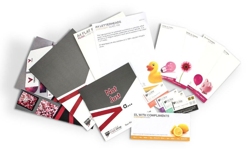 Request your free Print Sample Pack | Not Just A Copy Shop